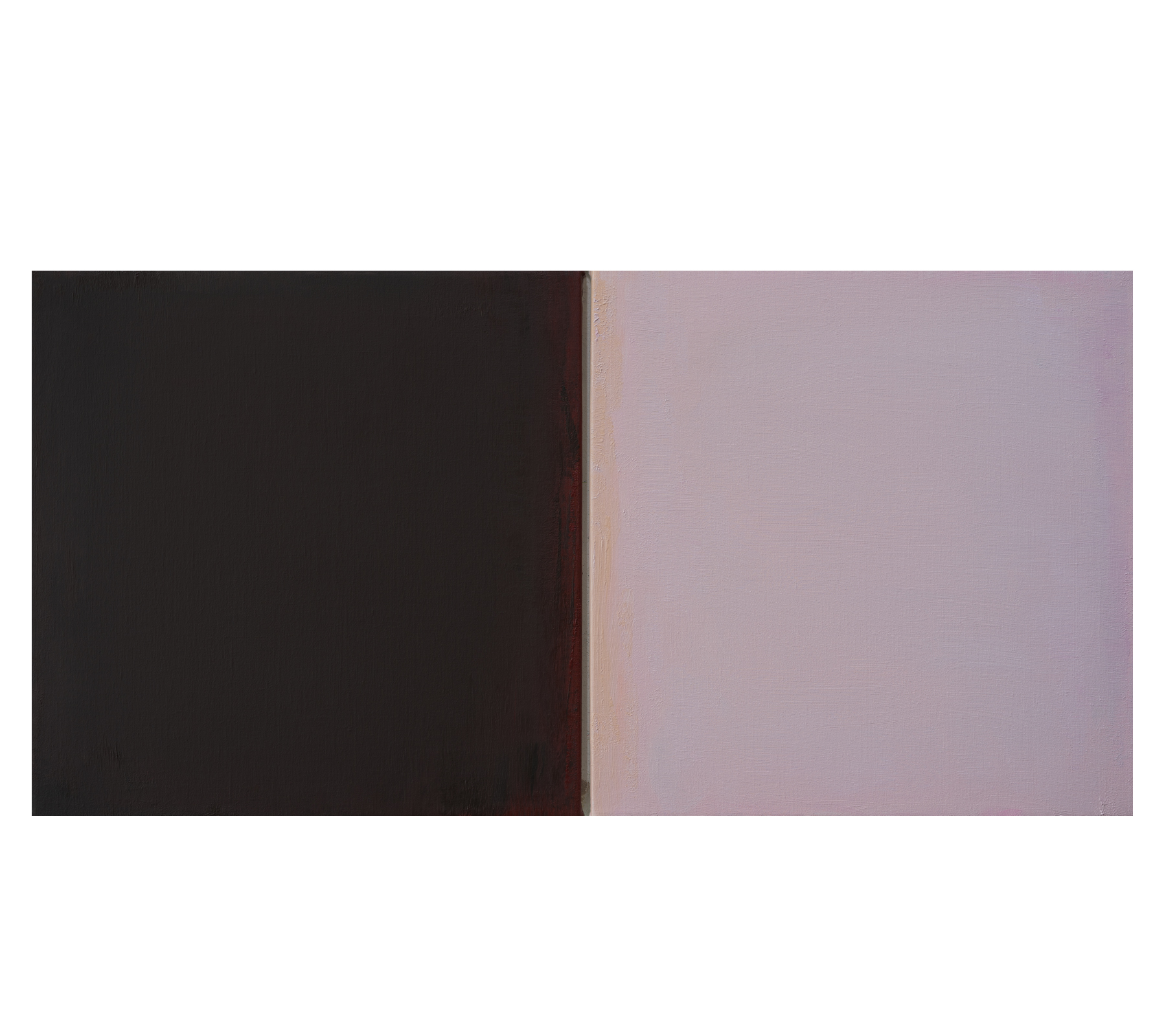Untitled diptych 2018 50x100cm