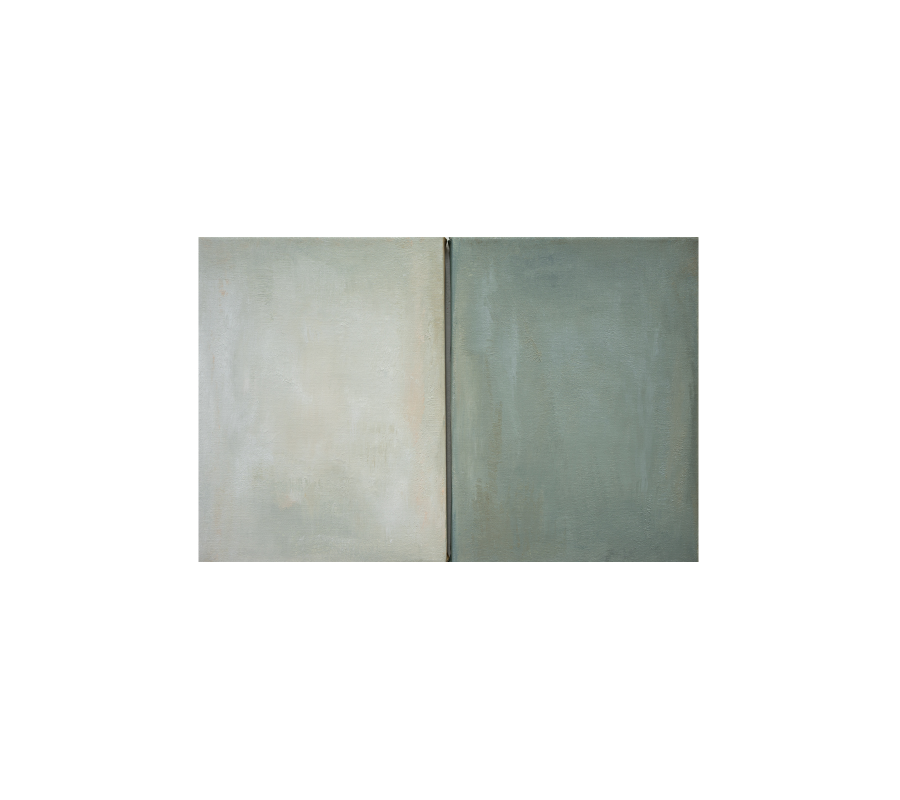 Untitled,(Winter) diptych 2019 40x60cm