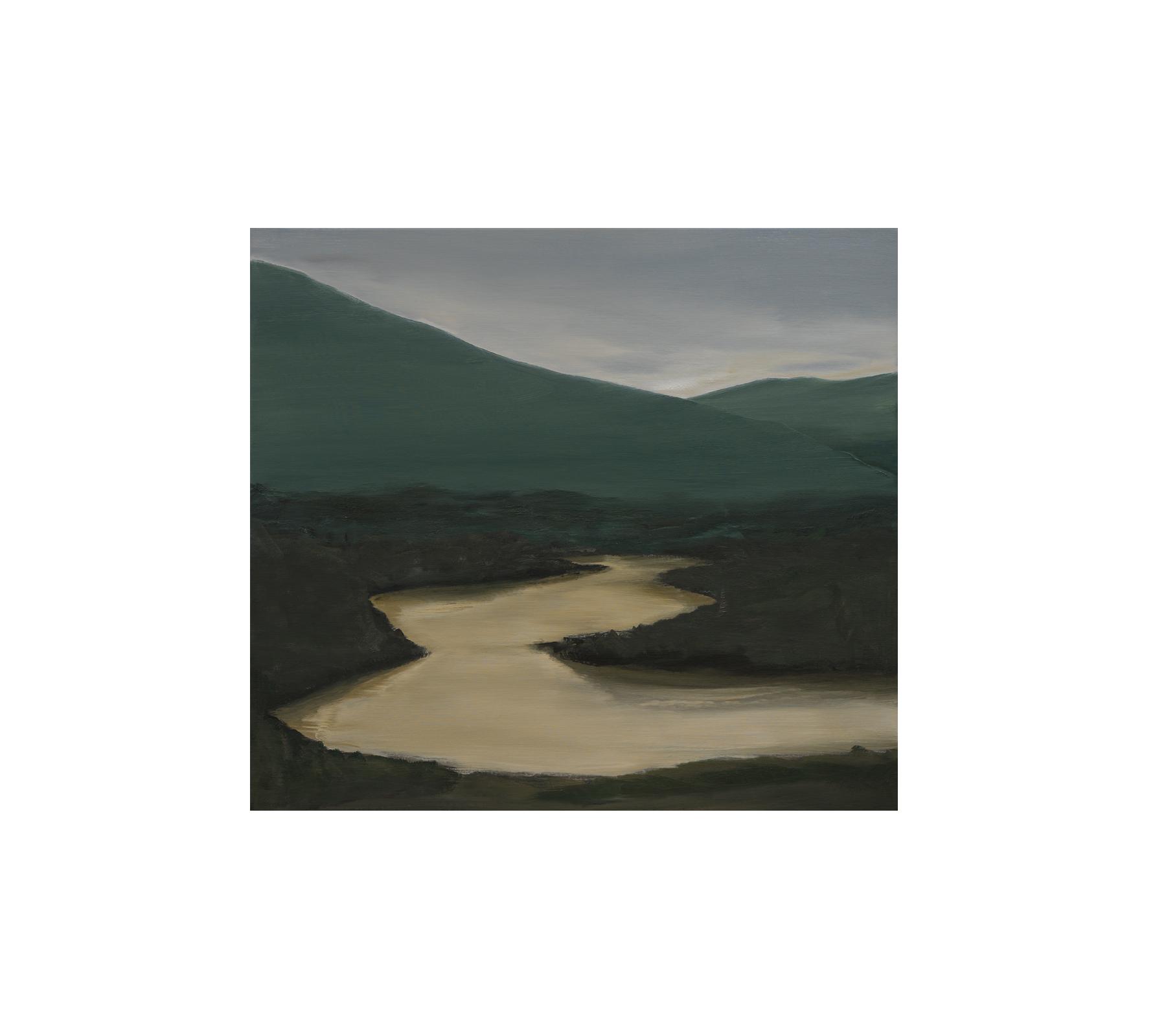 River 2019 90x100cm